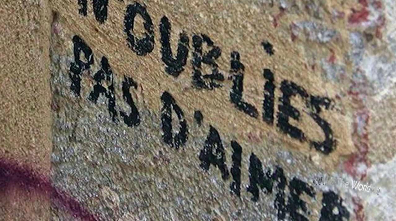 N'oublies pas d'aimer Paris France
