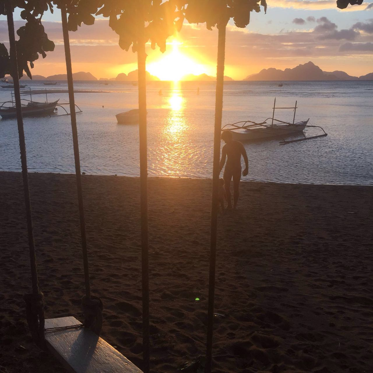 Por do sul El Nido Filipinas Sunset Philippines