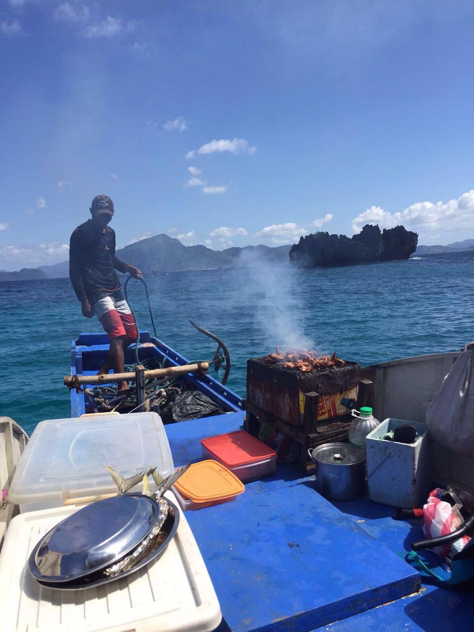 Churrasco no Barco - El Nido - Filipinas