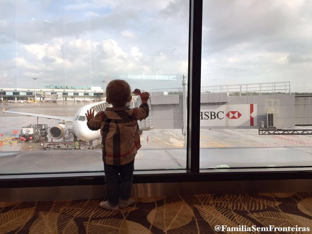 Ella no aeroporto