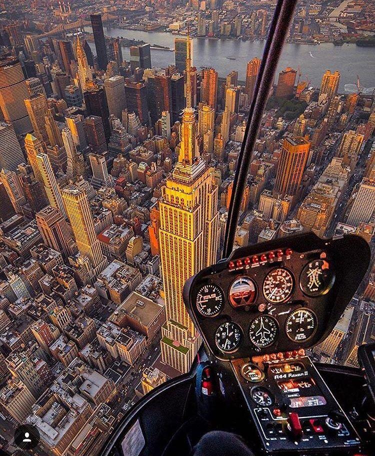Helicóptero em New York