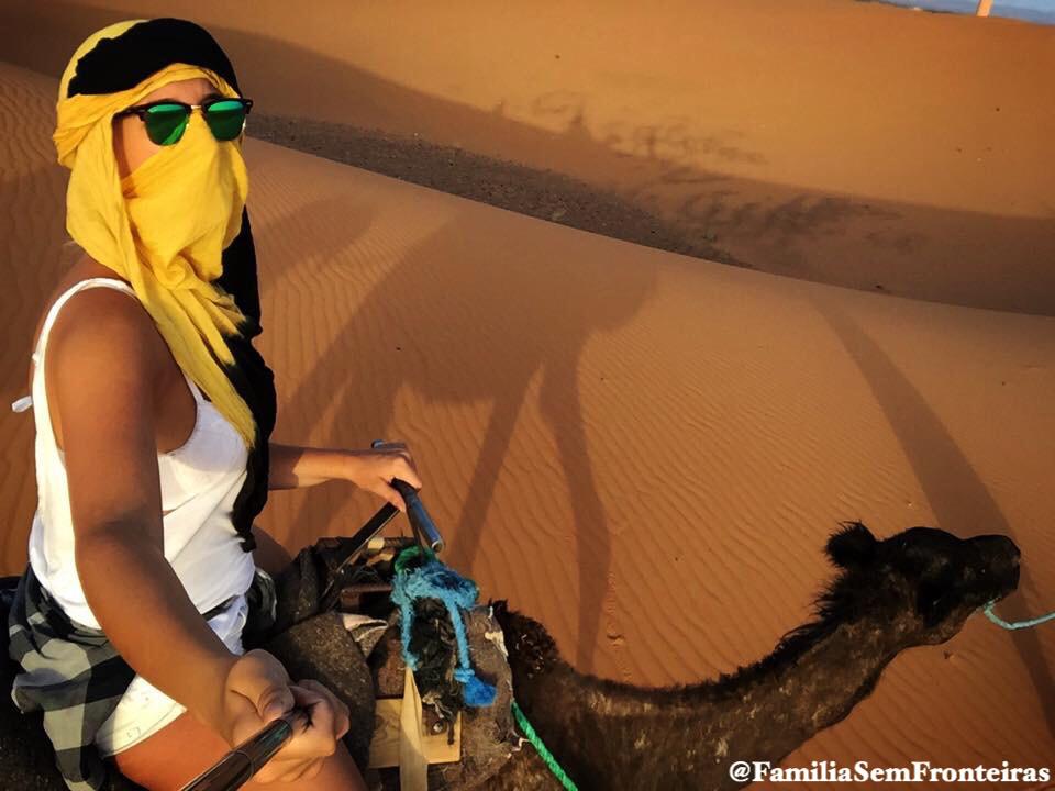 Passeio camelo deserto Marrocos Dubai