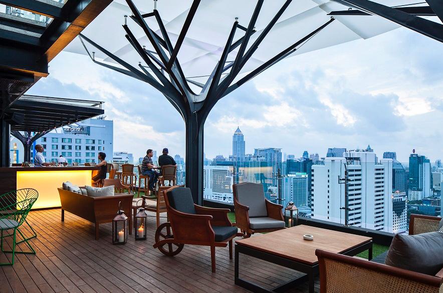 Above Eleven Skybar Bangkok Tailandia
