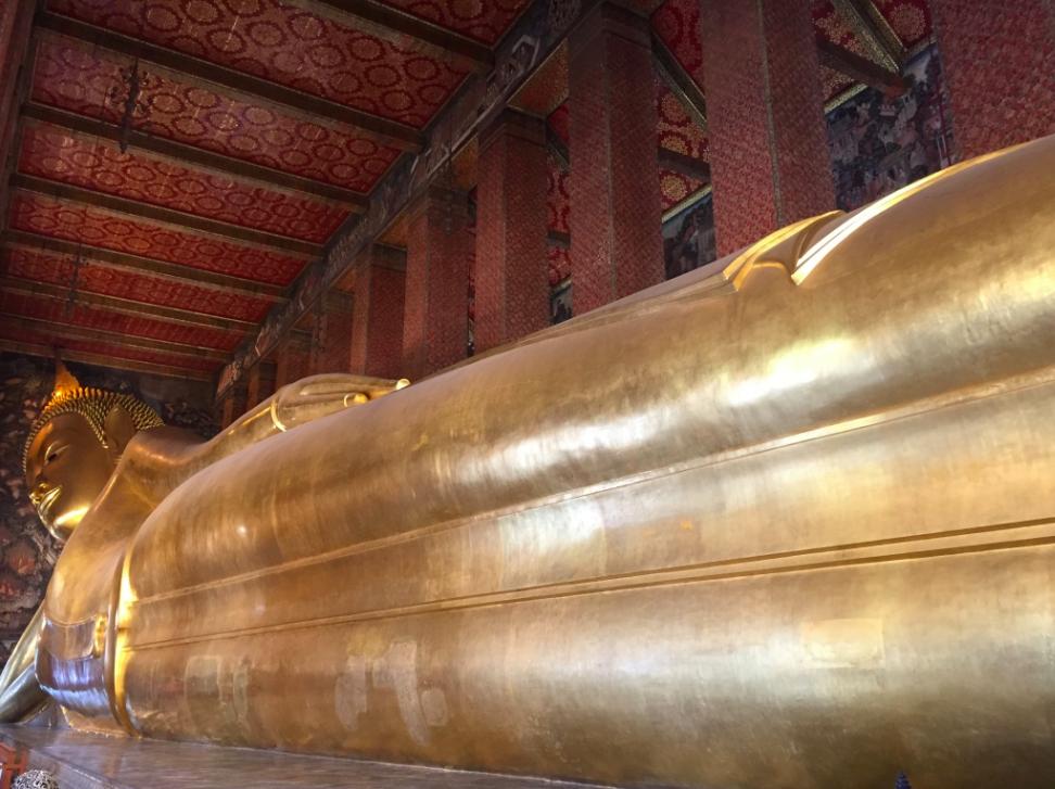Buddha deitado Bangkok Tailandia
