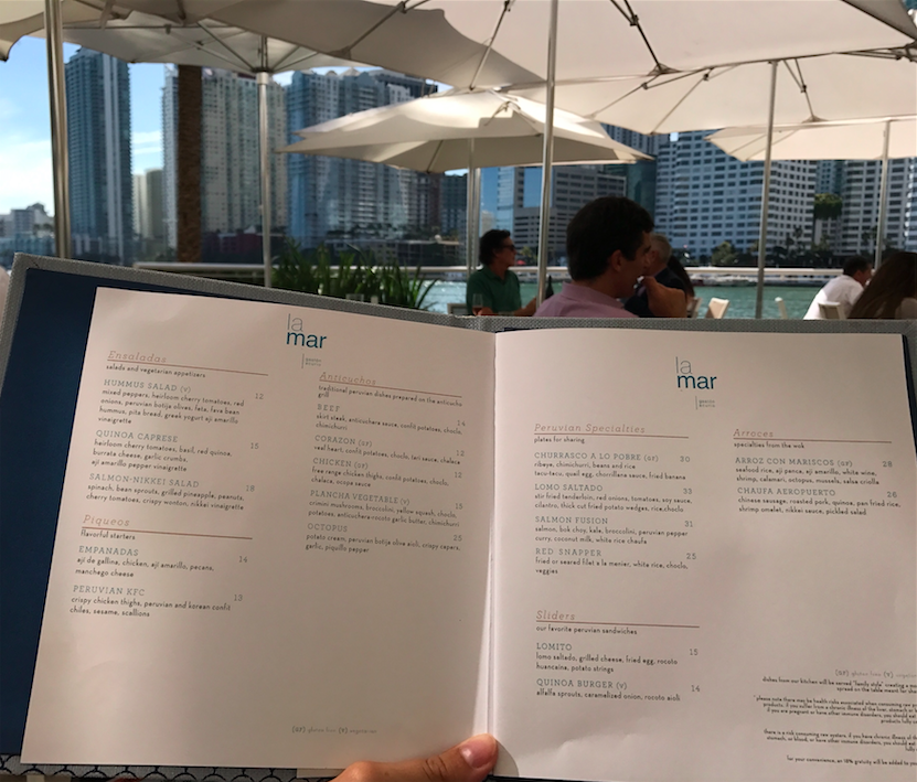 la mar restaurante miami brickell