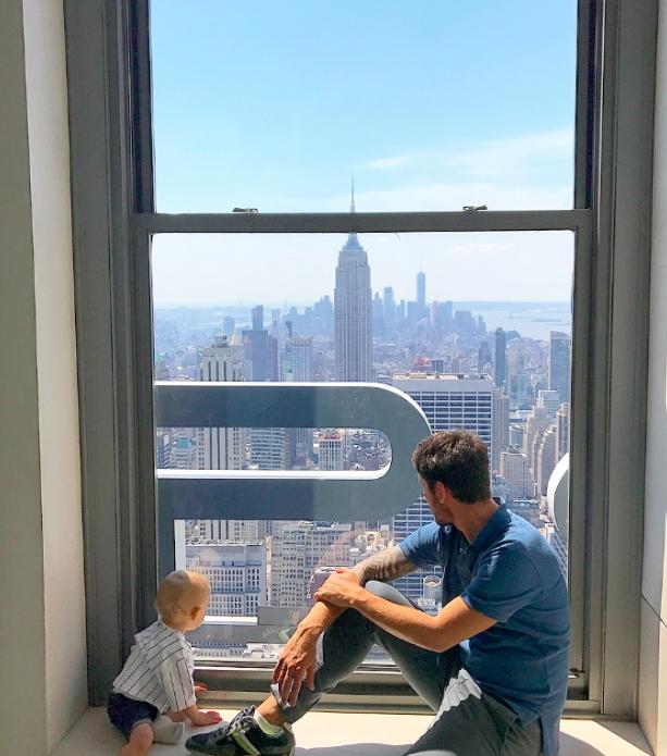 Janela top of the rock New York