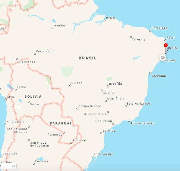 Onde fica a praia dos carneiros , Pernambuco