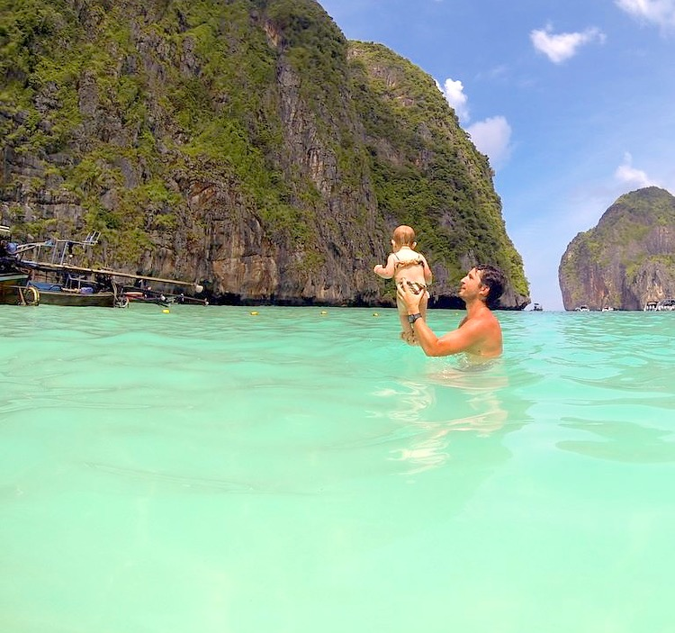 Maya Bay - Phi Phi - Tailandia- Bruno e Ella