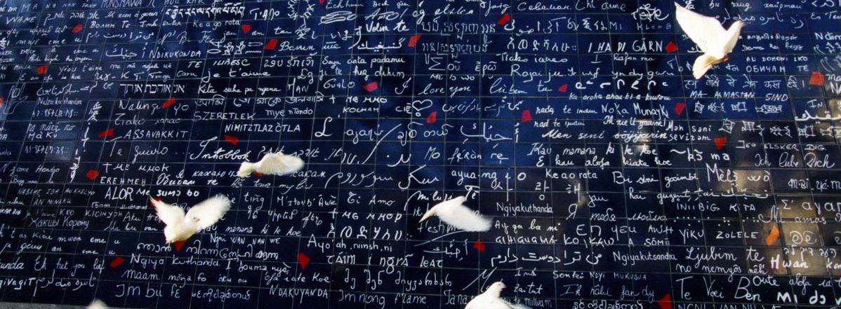 """Mur des """" Je t aime"""" Paris"""