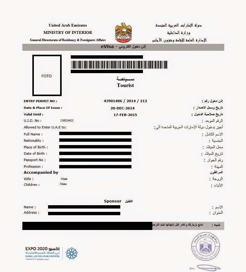 Dubai e visa