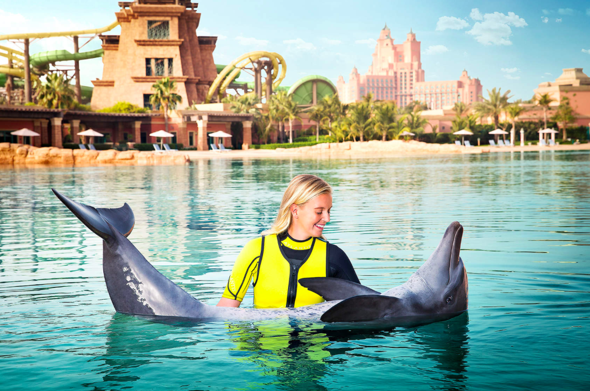 Dubai Mergulho golfinho Atlantis the Palm