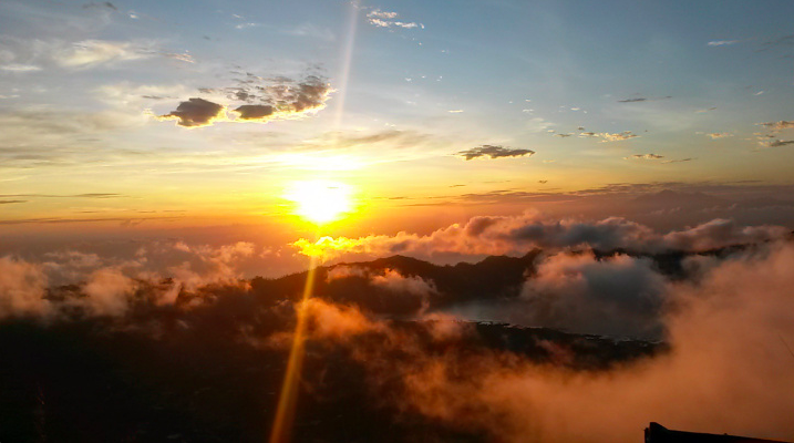 Nascer do sol Monte Batur Bali