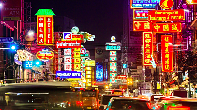 Bairro chines Bangkok Tailandia