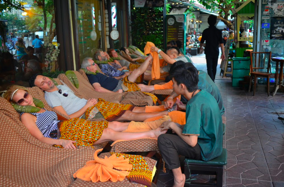 Massagem rua Bangkok