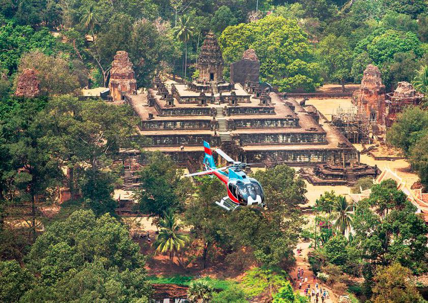 Helicóptero angkor templos