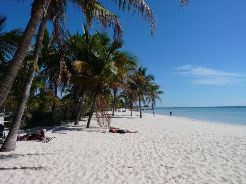 Higgs Beach - melhores praias das Florida keys - key West
