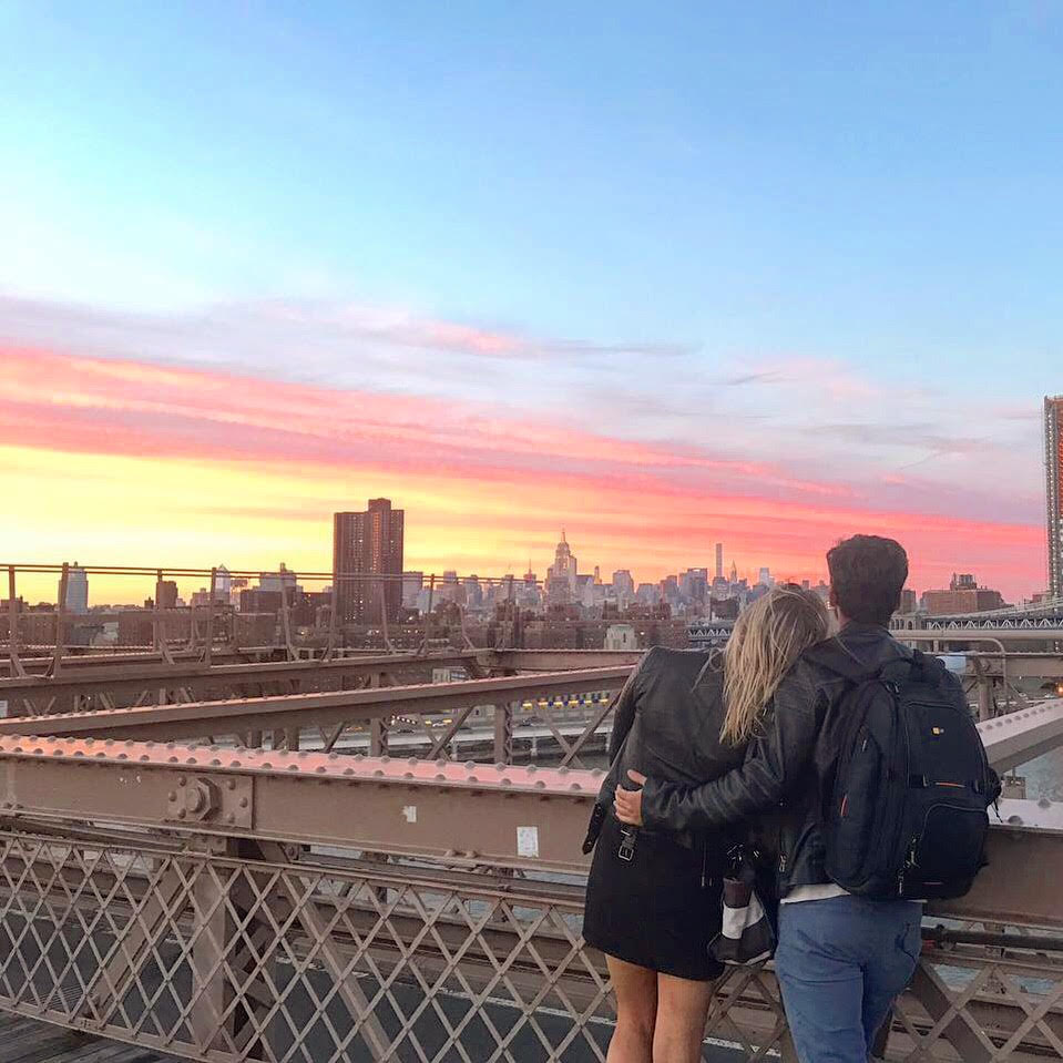Brooklyn Bridge New York Sunset