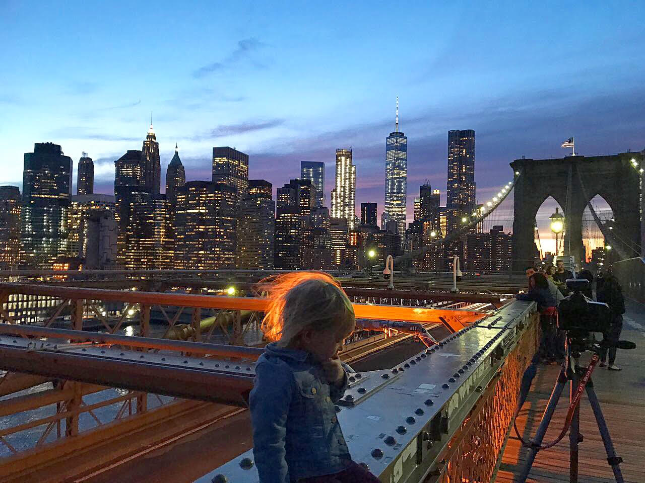 Vista Manhattan de Brooklyn Bridge