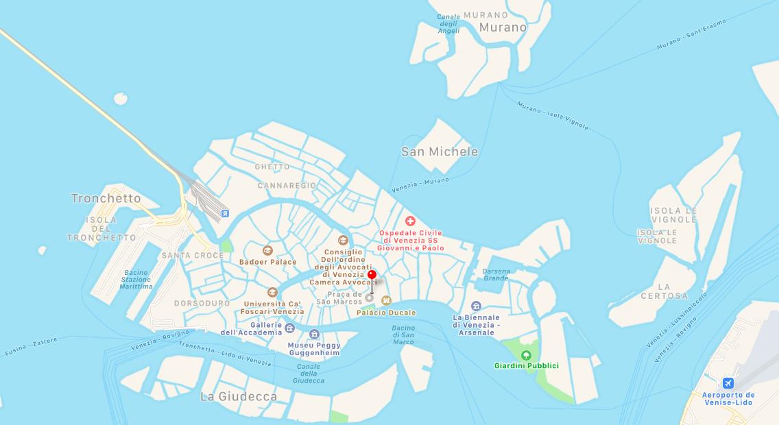 Mapa Veneza - Italia - onde fica Veneza