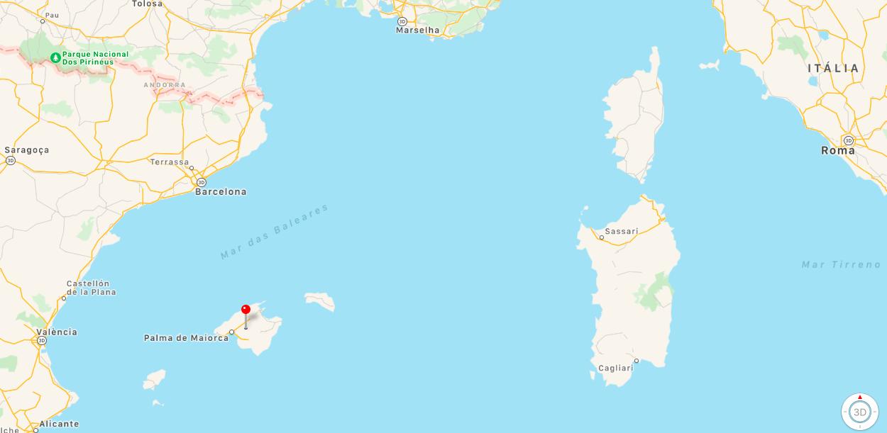 Mapa Ilha de Maiorca