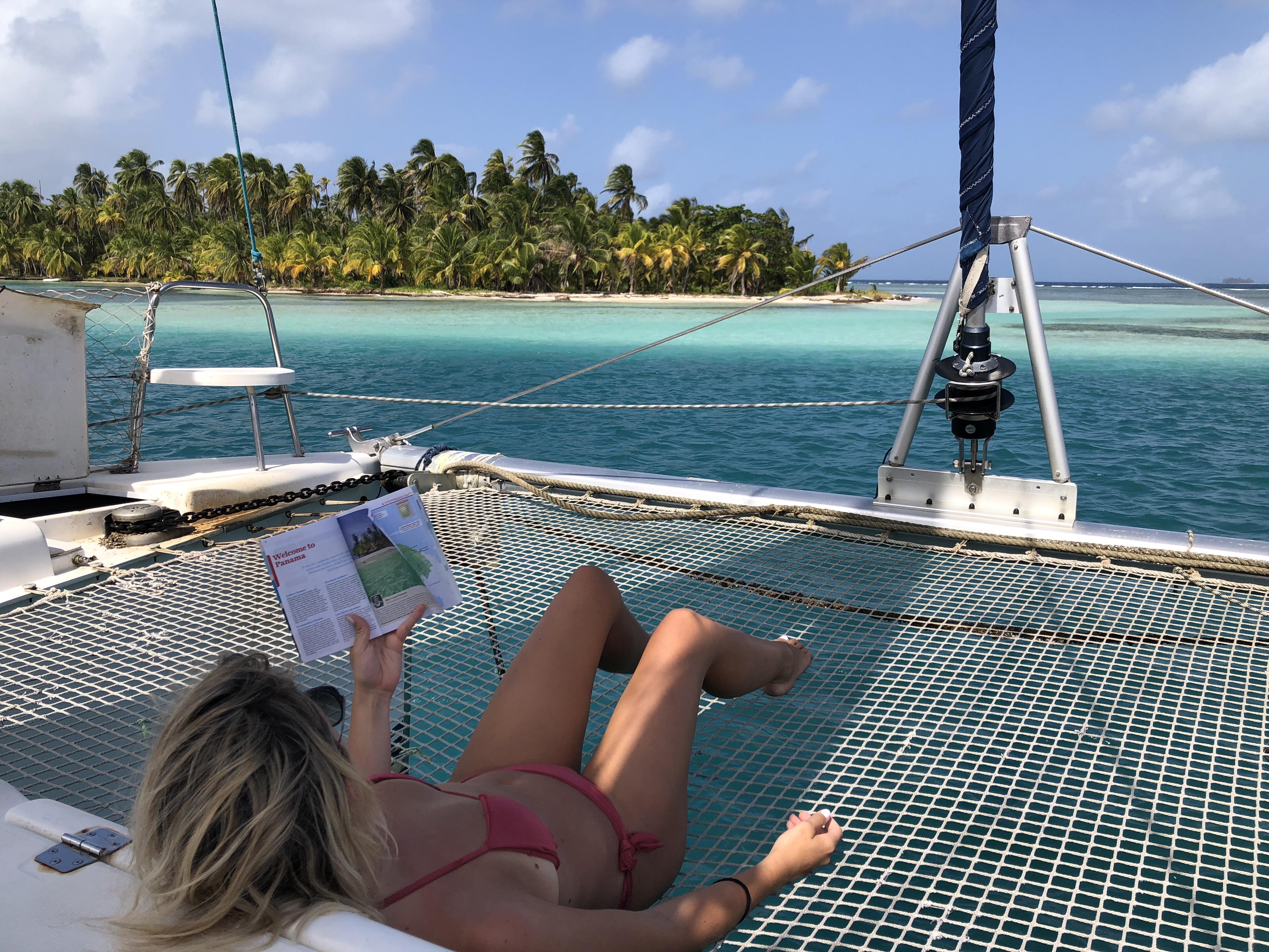 catamaran nas ilhas san Blas