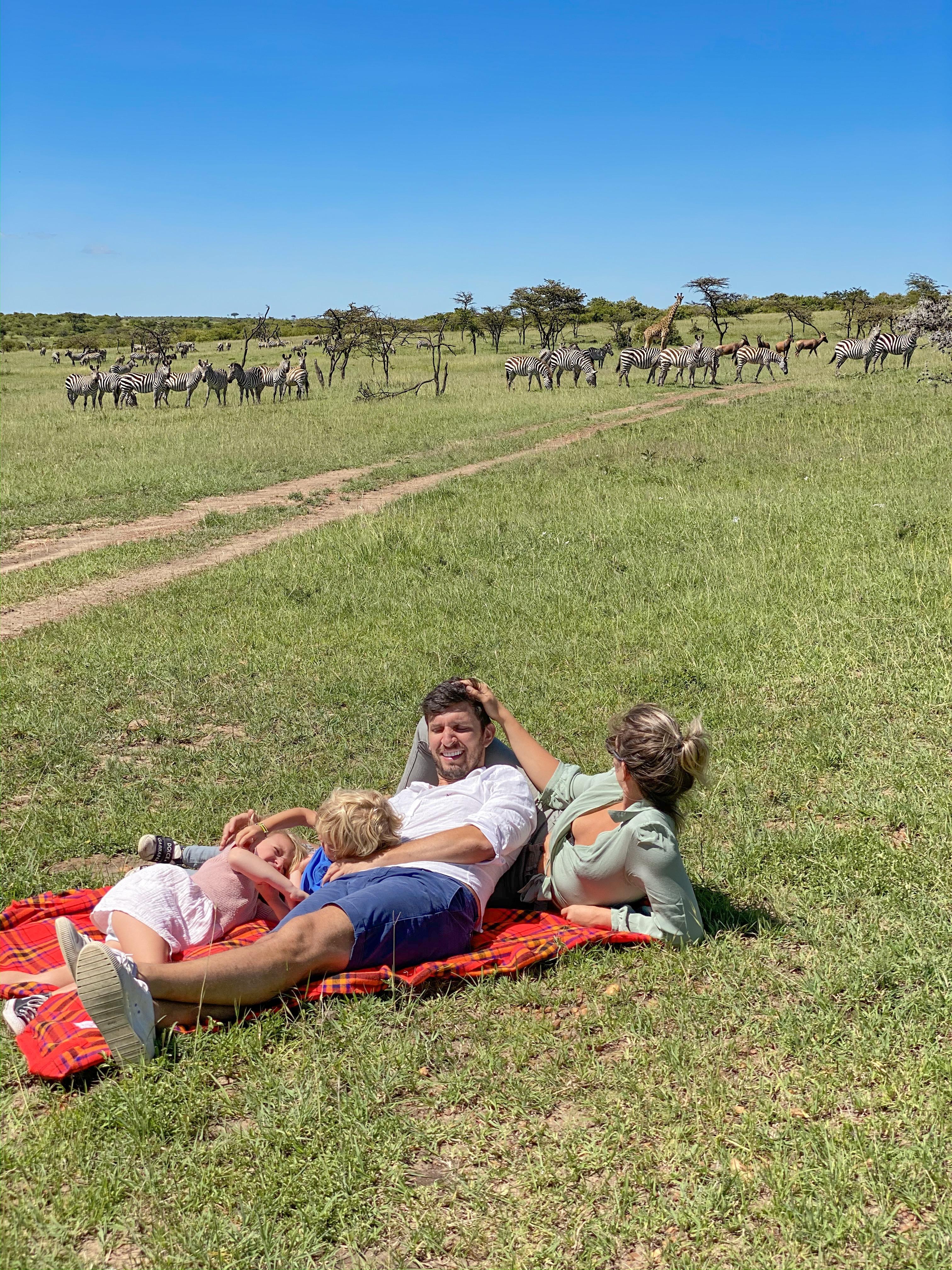 safari com crianças safari no Quênia Masai Mara